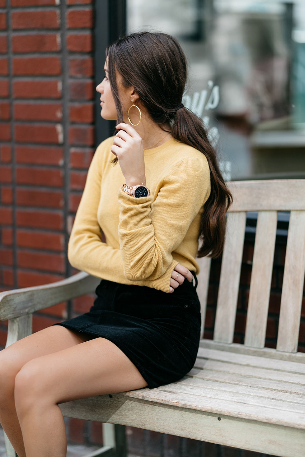 yellow-cashmere-sweater-with-black-velvet-skirt-and-ankle-boots-fall-outfit1-1.jpg
