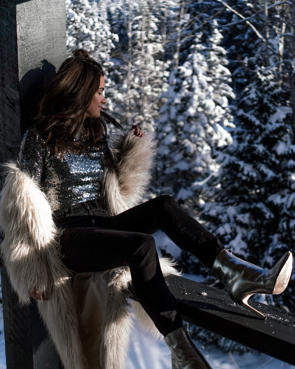 new years eve snow sequin fur outfit whistler3.jpg