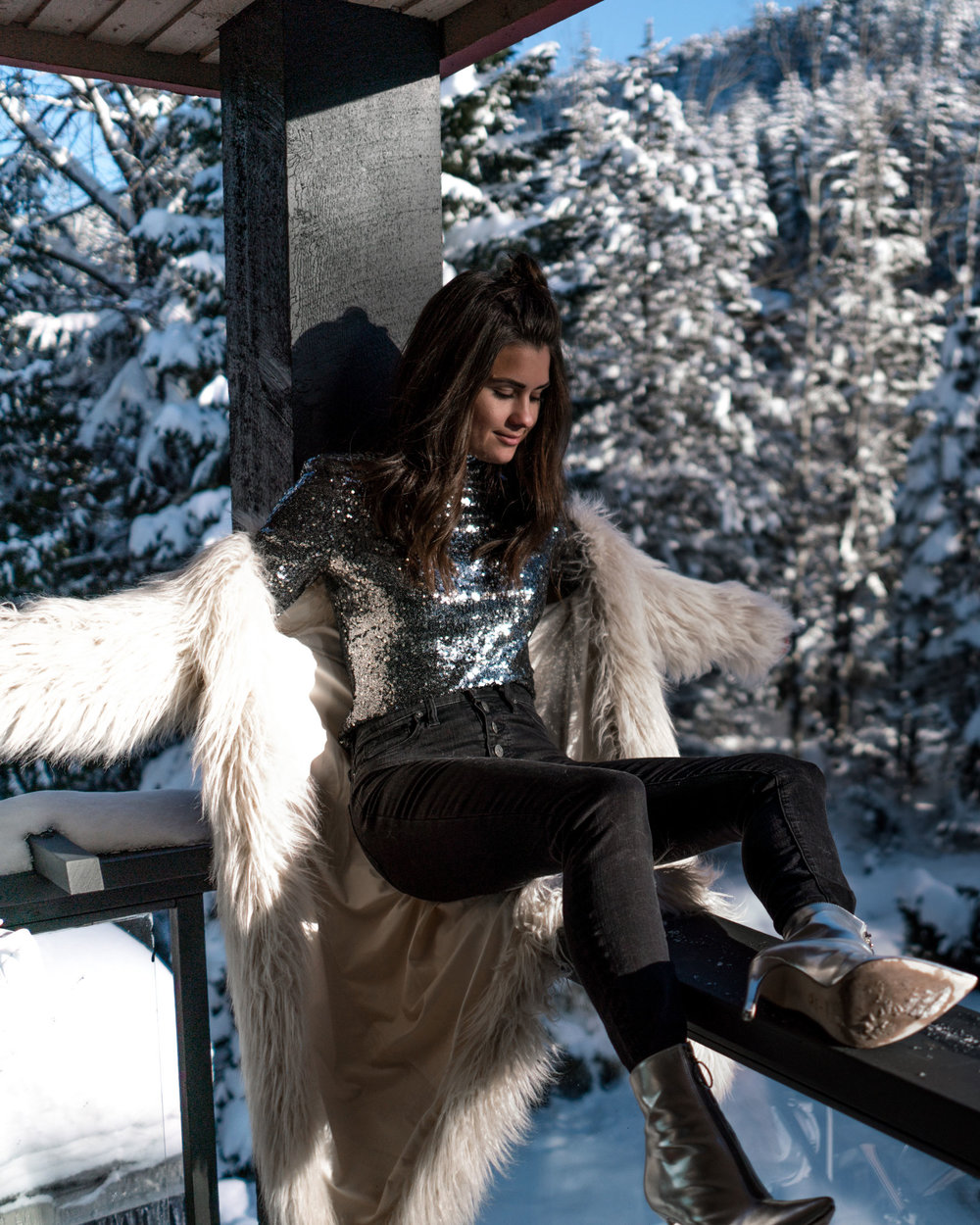 new years eve snow sequin fur outfit whistler4.jpg