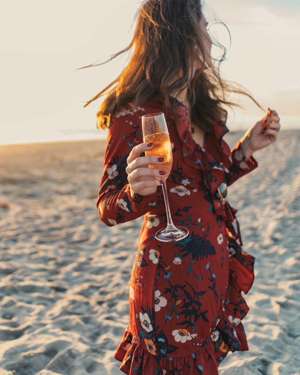 BURGUNDY-FLORAL-FRILL-WRAP-MINI-DRESS-Newport-Beach-California-Summer-Dress-3.jpg