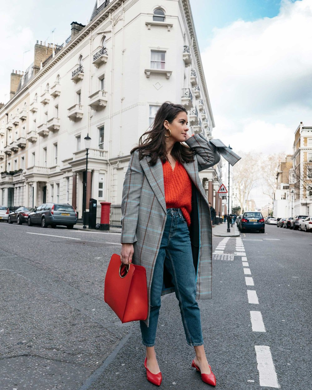 Lightweight-Check-Coat,-Salvatore-Ferragamo-Red-Leather-Tote,--Mom-jeans,-London-Fall-Outfit-Red-Accessories.jpg