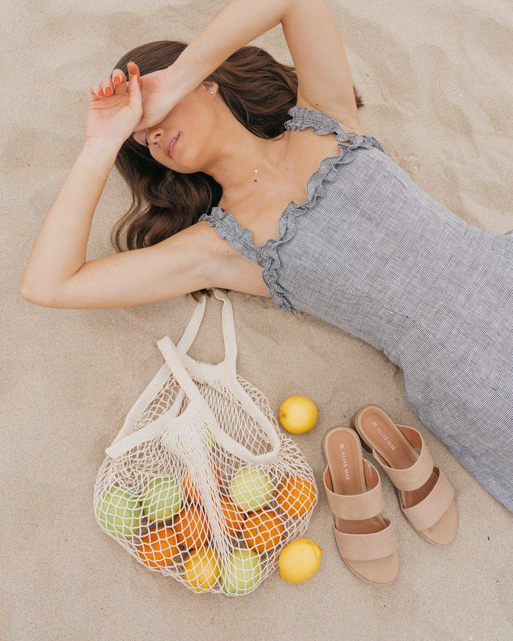 Reformation Lavendar Midi Dress Cotton Net Shopping Tote Newport Beach California Summer Outfit3.jpg