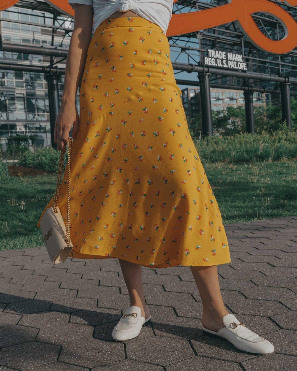 yellow floral midi skirt pepsi cola sign long island city3.jpg