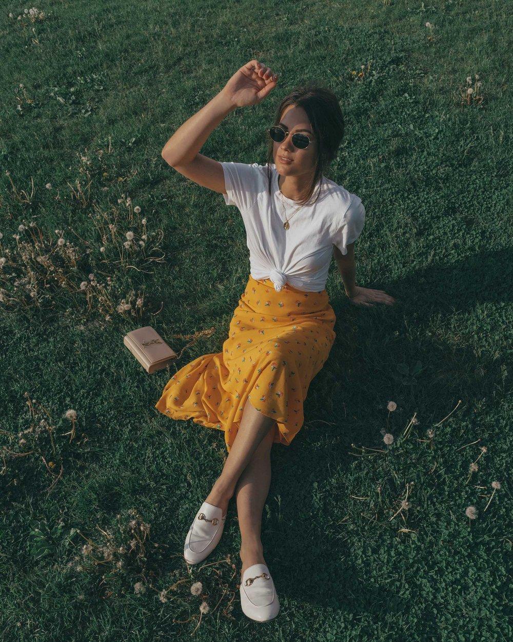 yellow floral midi skirt pepsi cola sign long island city6.jpg