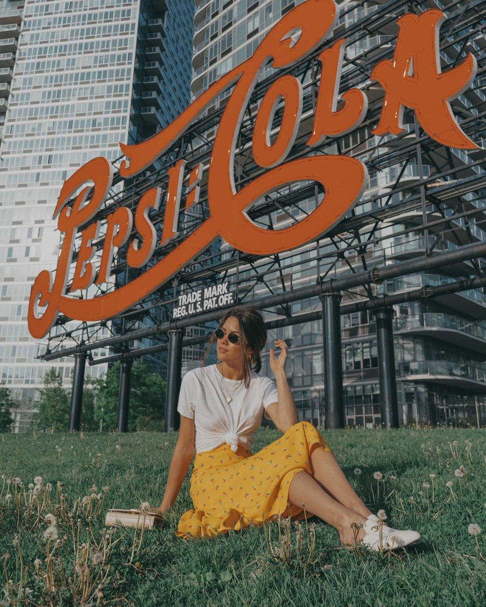 yellow floral midi skirt pepsi cola sign long island city8.jpg