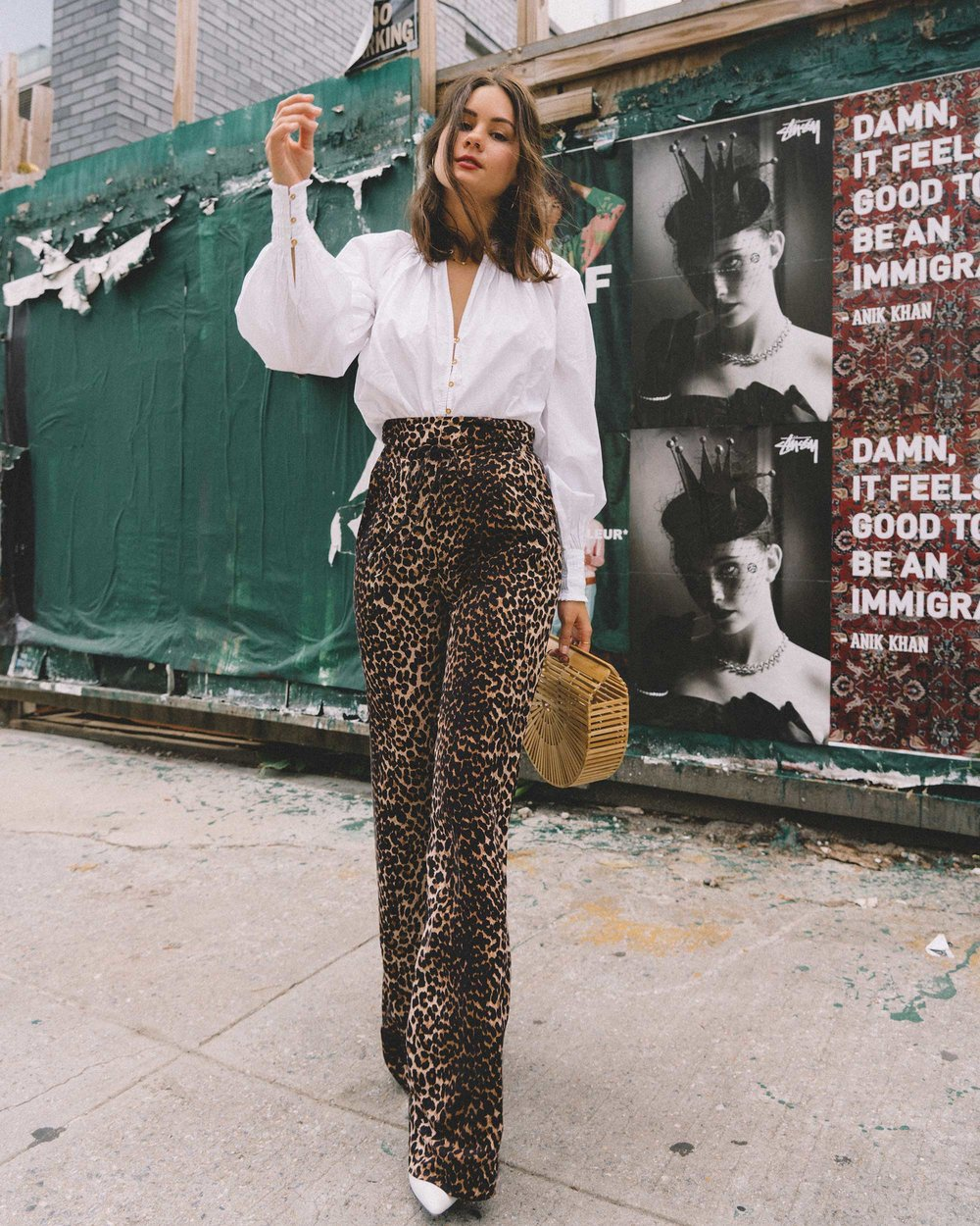 Paige high-rise culottes leopard print new york fashion week outfit6.jpg