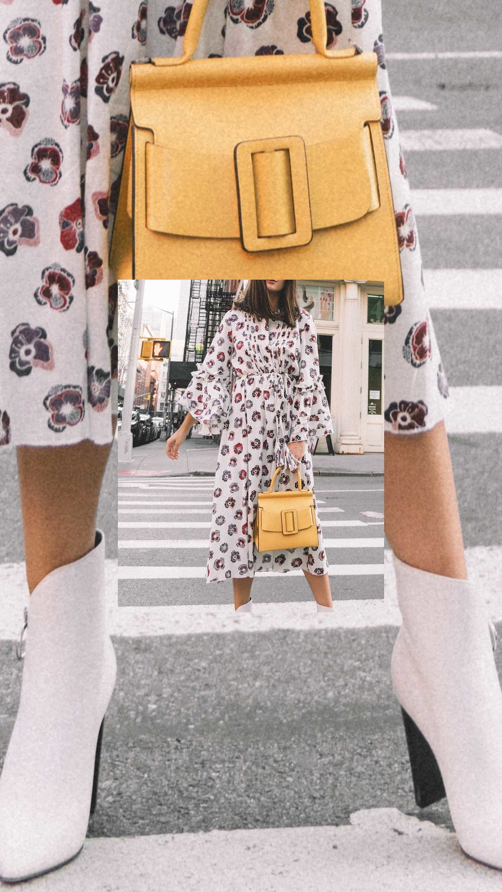 Madewell x Karen Walker Floral Fantasia Ruffled Dress and BOYY Karl 24 Bag soho new york fashion week outfit11.jpg