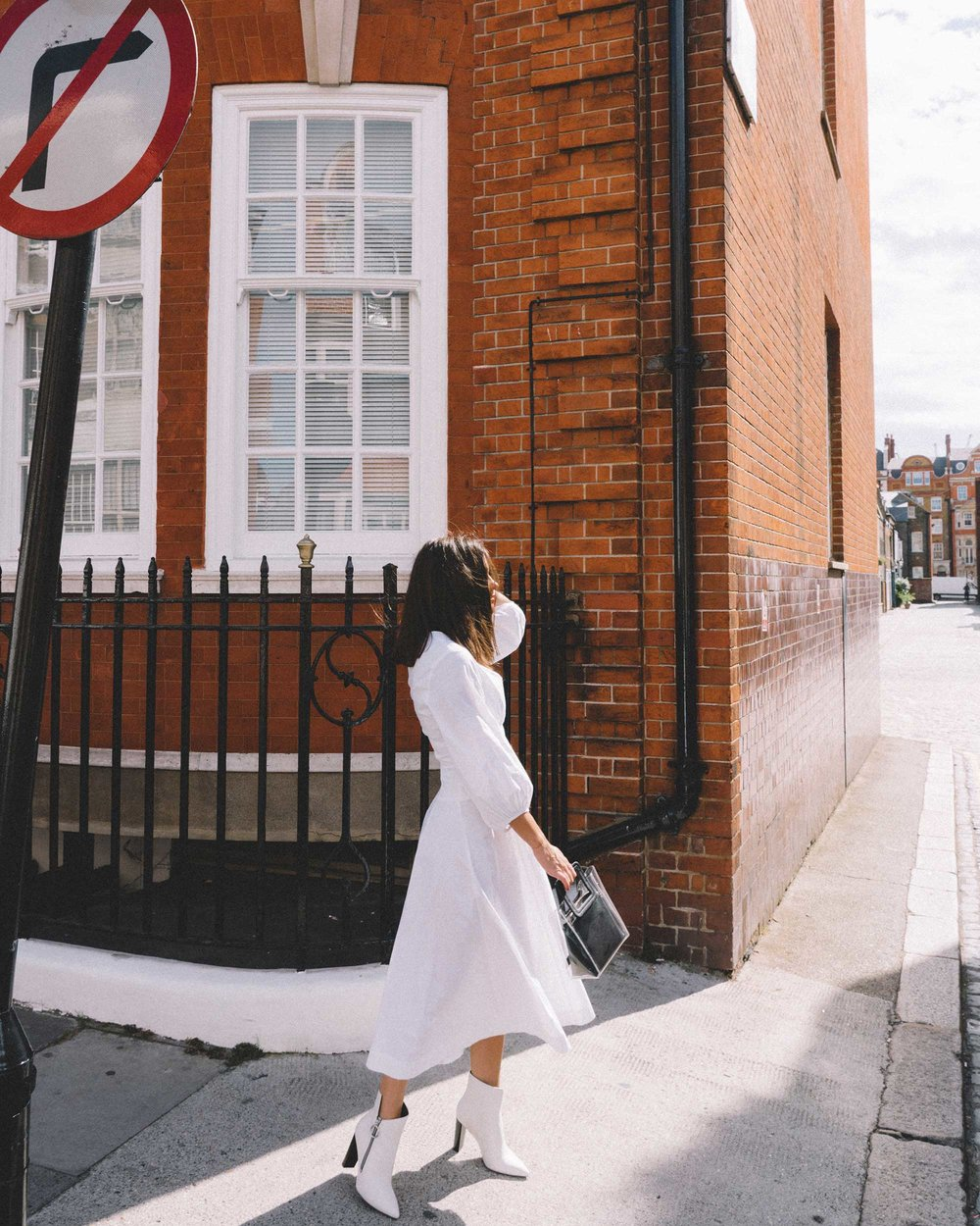 STAUD Eden Midi Dress, STAUD clear and black shirley mini PVC and leather tote, London Fashion Week Outfit15.jpg