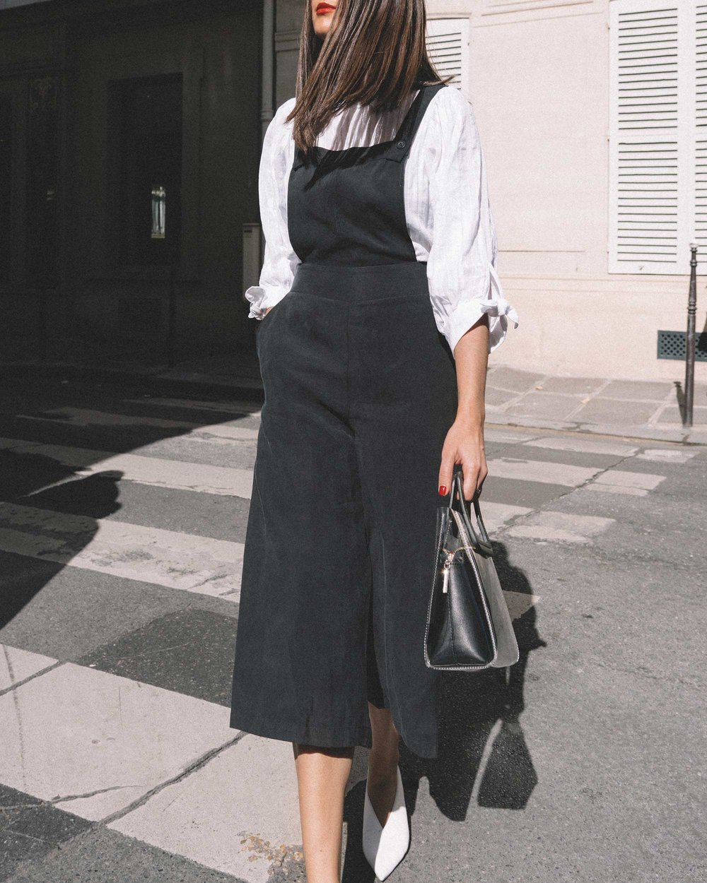 Black Culotte Overall Jumpsuit Paris Outfit1.jpg