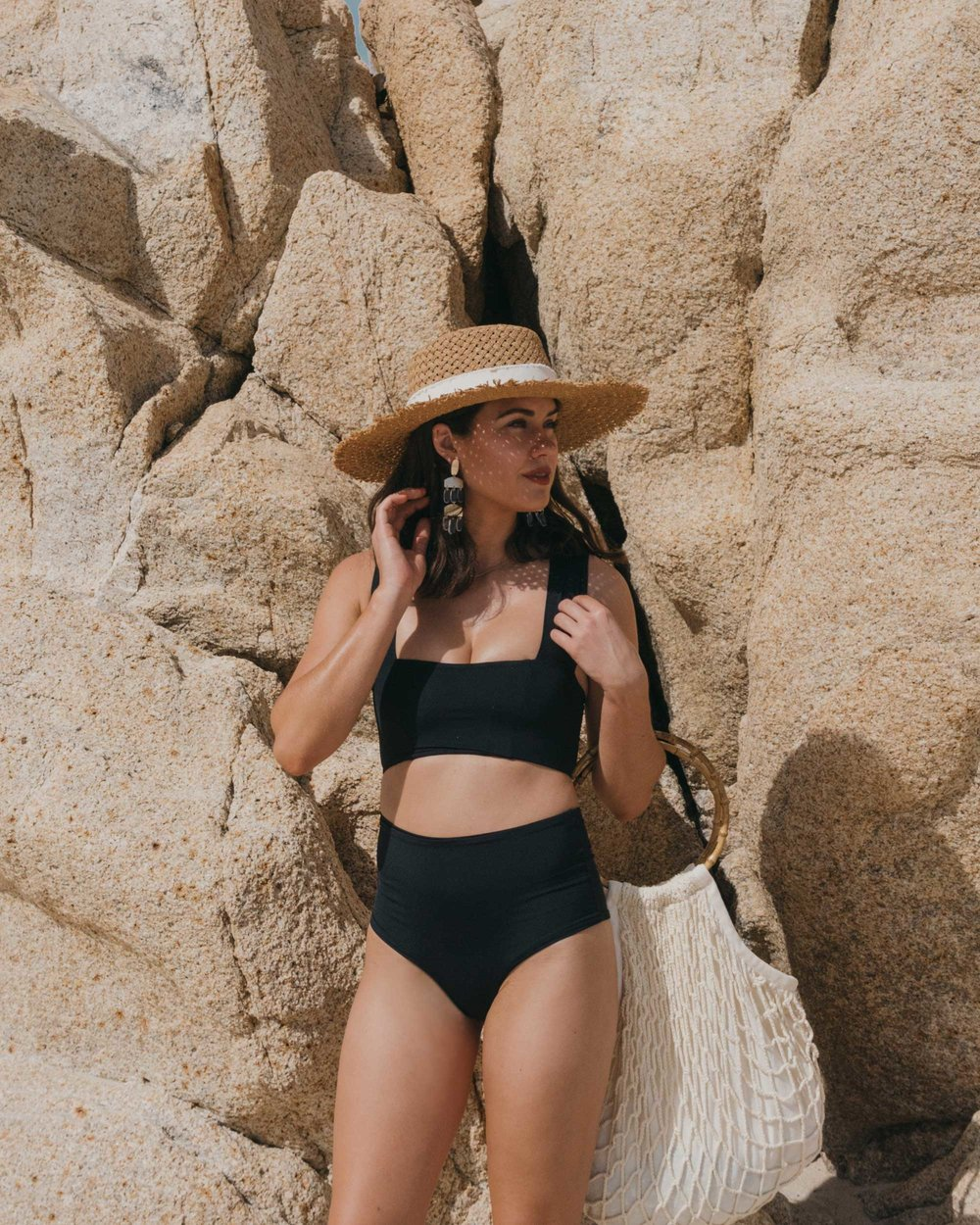LSpace Women's Parker Bikini in Black One&Only Palmilla in Los Cabos Mexico2.jpg