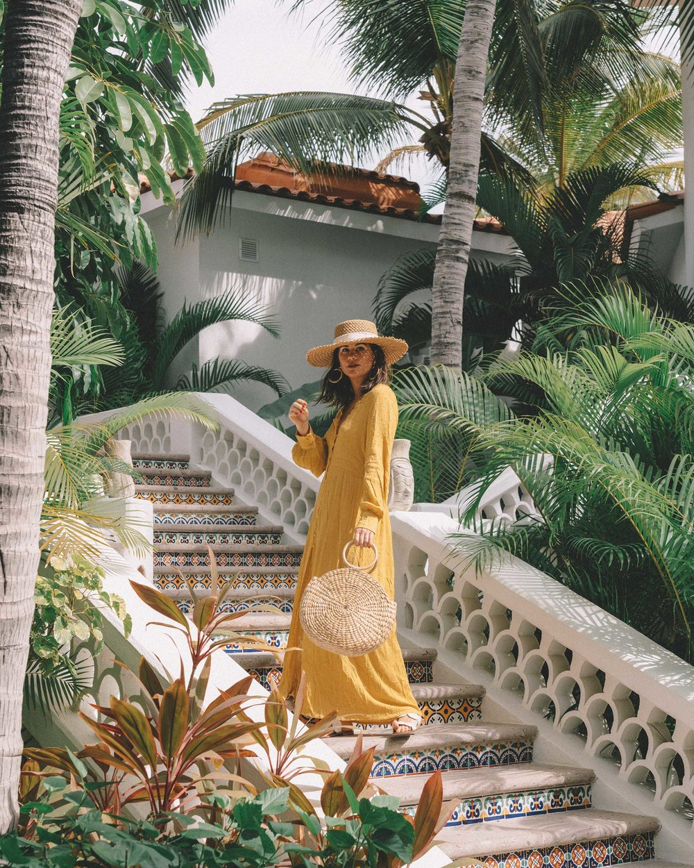 yellow button-down crochet maxi dress One and Only Palmilla in Los Cabos Mexico2.jpg