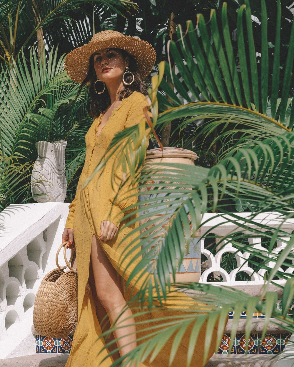 yellow button-down crochet maxi dress One and Only Palmilla in Los Cabos Mexico5.jpg