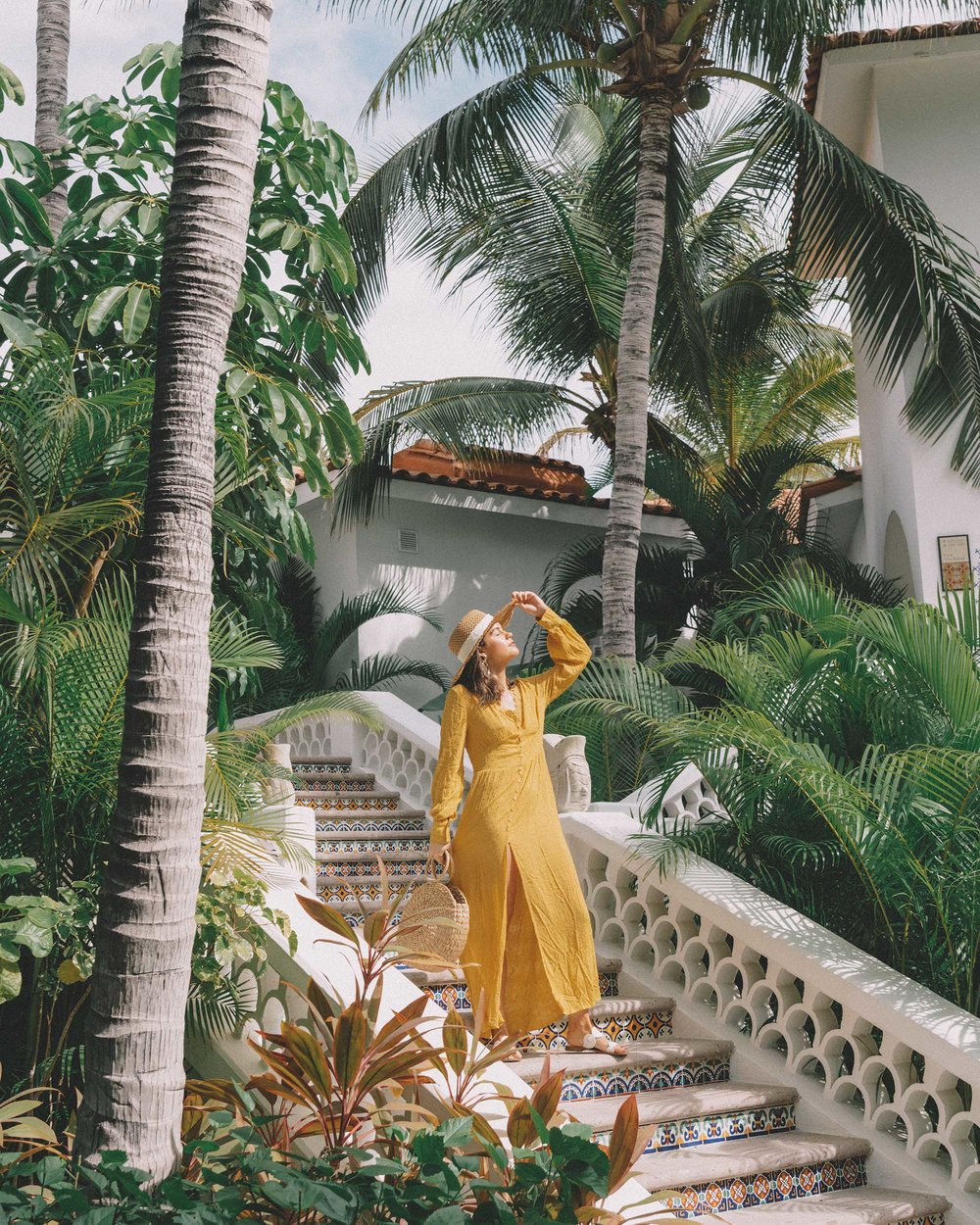 yellow button-down crochet maxi dress One and Only Palmilla in Los Cabos Mexico4.jpg