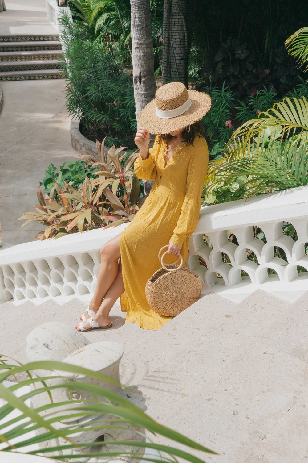 yellow button-down crochet maxi dress.jpg