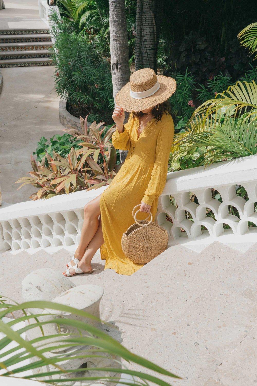 yellow button-down crochet maxi dress.jpg