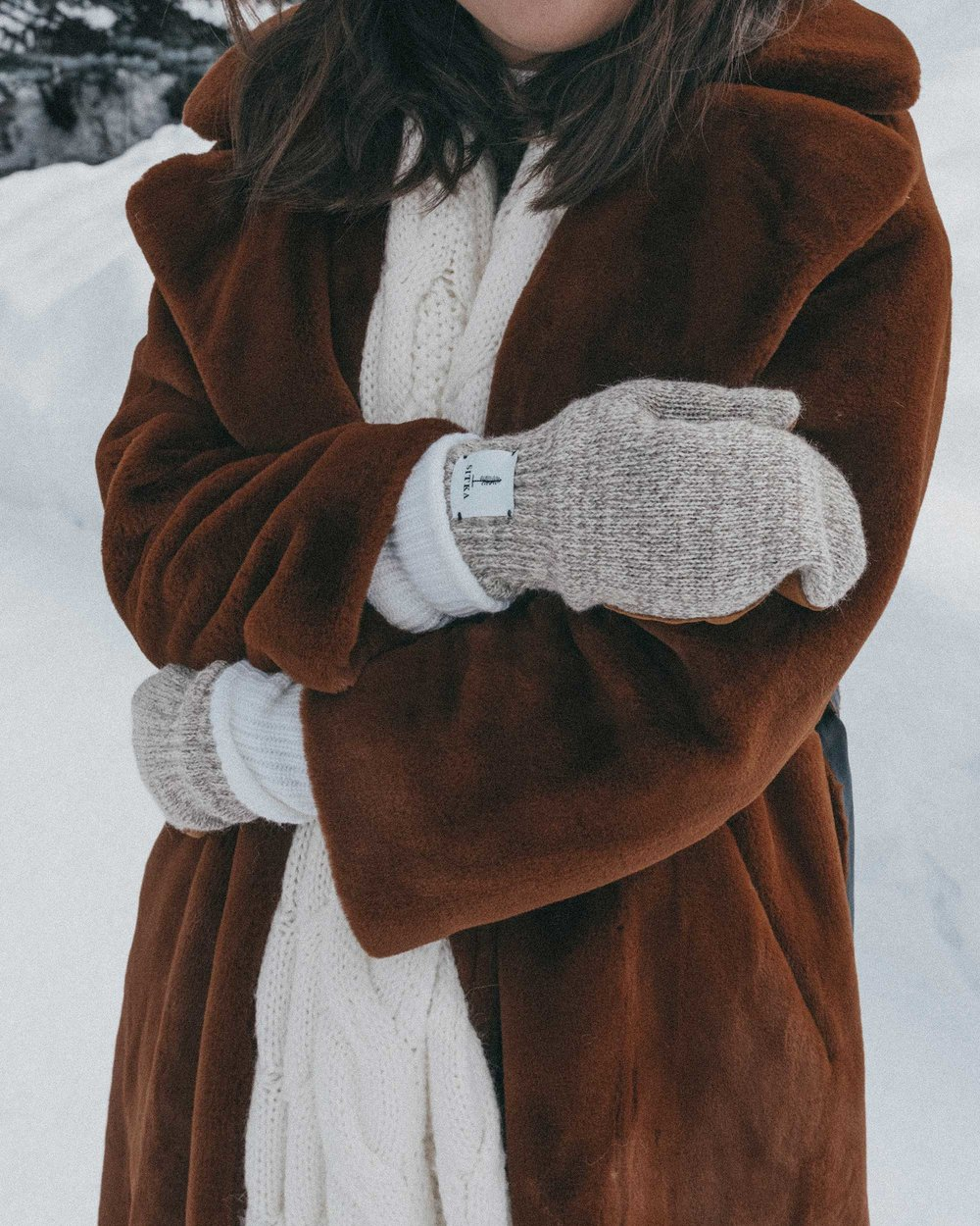Whistler snow travel outfit brown faux fur coat1.jpg