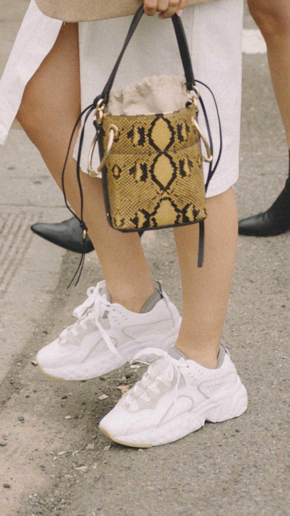 11 ways to wear snake print, CHLOE Roy small snake leather bucket bag street style.jpg