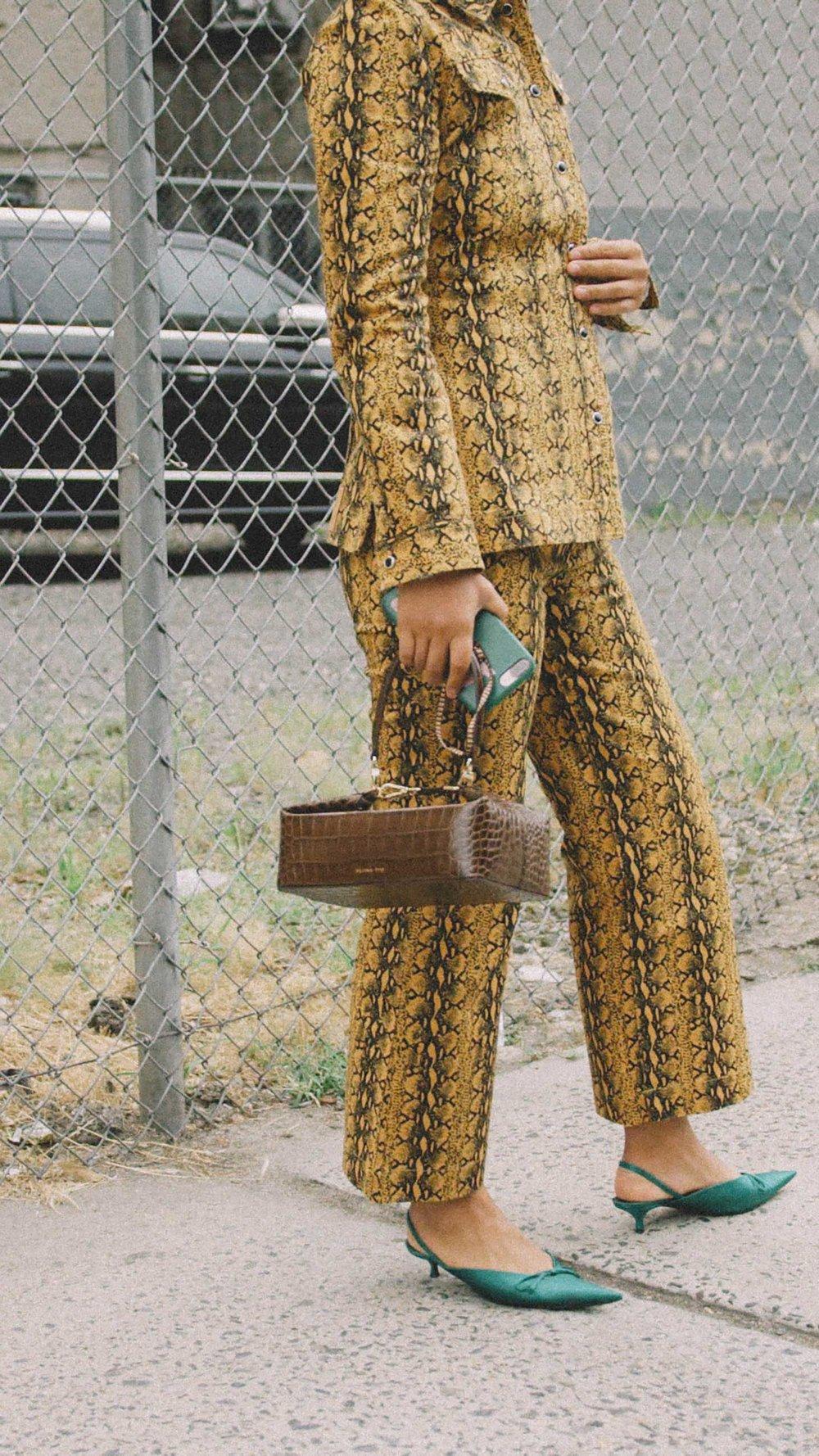 11 ways to wear snake print, snake print suit street style.jpg