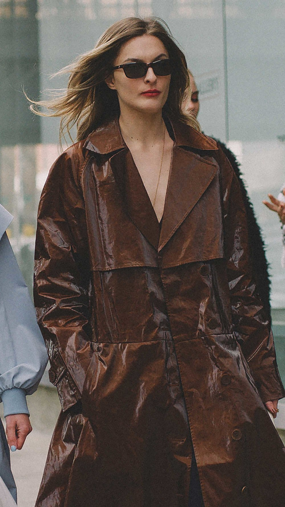 The Tibi Brown Trench Coat every blogger is wearing at NYFW1.jpg