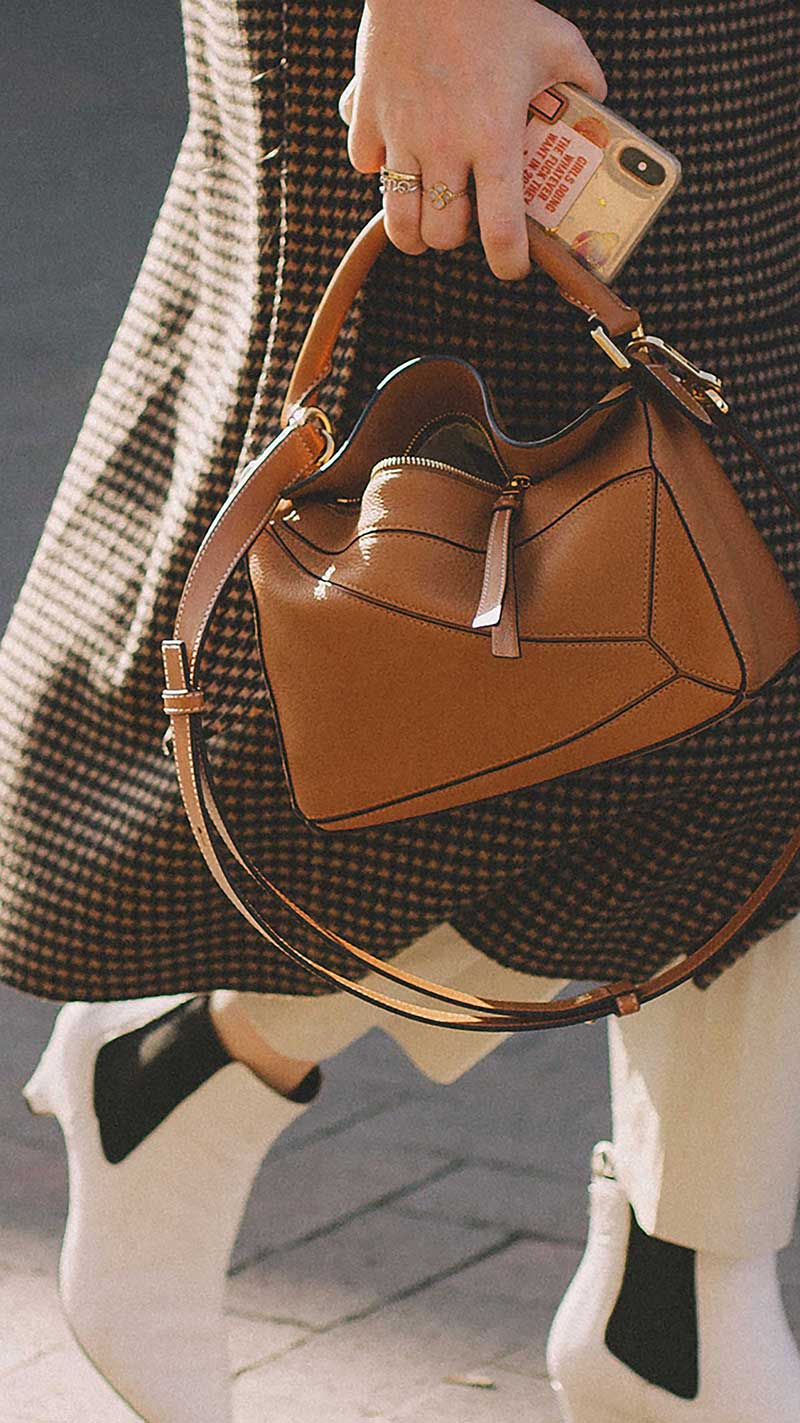 2. Loewe - Puzzle small textured-leather shoulder bag