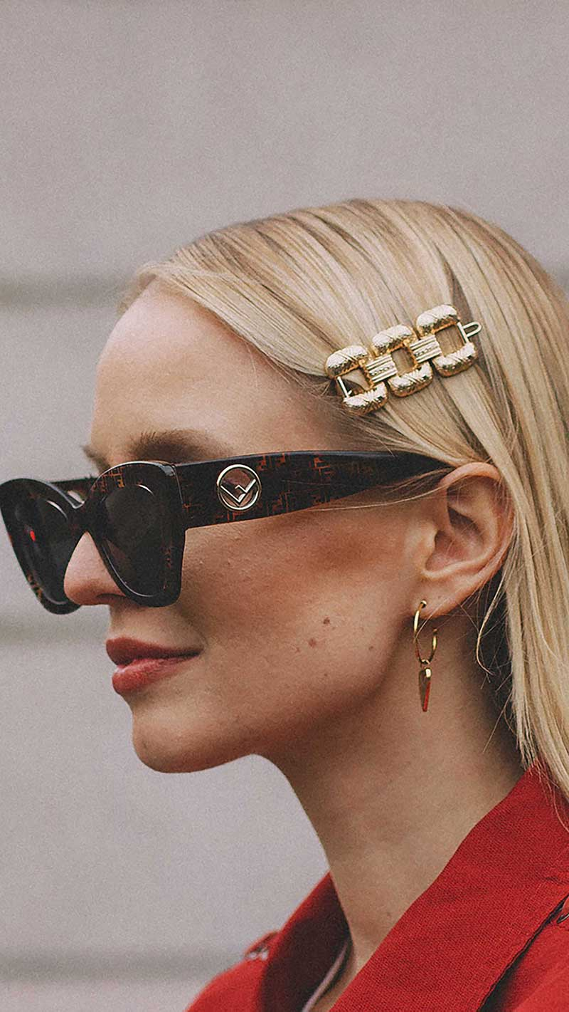 12. Fendi - F is Fendi 51mm sunglasses