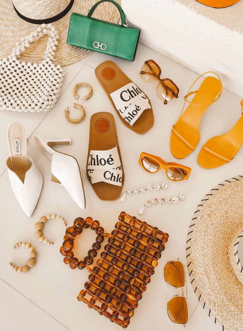 11 spring accessories to buy now:  THE ROW Nude Asymmetric Leather Sandals, Cult Gaia acrylic clutch , ROSANTICA beaded tote in Palm Springs | @sarahchristine - 18.jpeg