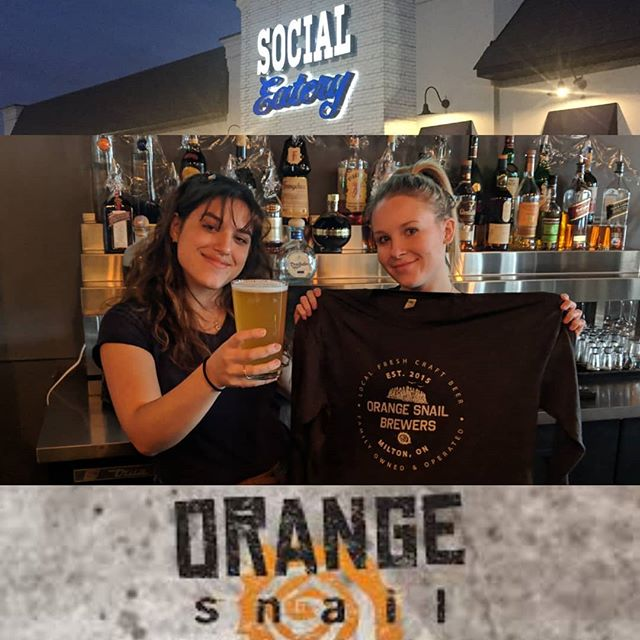 Greatest Contest Ever!!!! To celebrate @orangesnailbrewers Backstretch Cream Ale on our rotating tap we're giving away a $50 Gift Certificate AND this sweet T-shirt.  Tag the beer lover in your life and be following us for your chance to win. www socialeatery.ca #mississauga #beer #contest #prizes #drinklocal #streetsville #milton #streetsville #craftbeer #beerlover #draughtbeer #orangesnailbrewers #meadowvale #drinks #win #restaurants #saugaeats #tshirts #ale #creamale