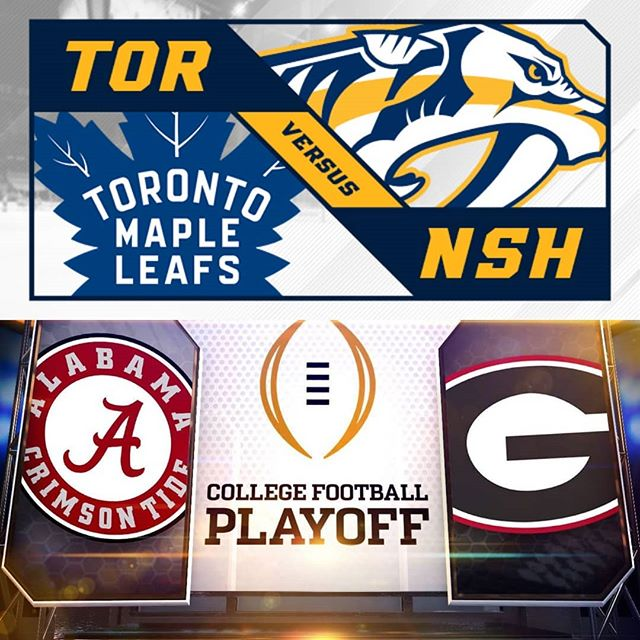 Big Night of Sports, let's celebrate with 1/2 price Appetizers in the Bar all night! #appetizers #meadowvale #football #leafs #nachos #tacos #nhl #food #mississauga #monday #deals #fun #drinks #collegefootballplayoff