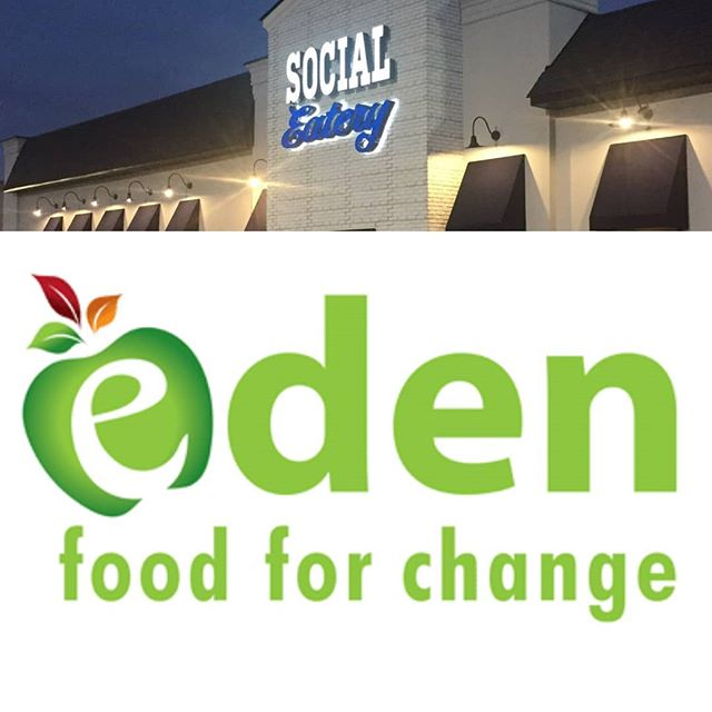 "We are donating $5 to our neighbors @edenfoodforchange for every online reservation made in January. Just put ""Eden"" in the notes. www.socialeatery.ca  Or if you would just like to donate/help go to their website (take 2 minutes read what they do, you'll be impressed) www.edenffc.org  They're a great group of people helping others right here  in our community. You can always drop off any donations here and we will make sure they get them.(and give you a desert)  #meadowvale #eden #neighbours #foodbank #learning #kitchen #mississauga #neighbours #family #insauga #yoursauga #january"