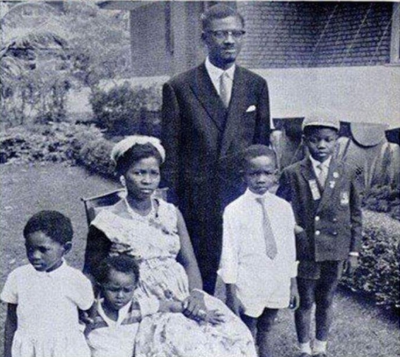 Patrice Lumumba, Pauline Lumumba & Children