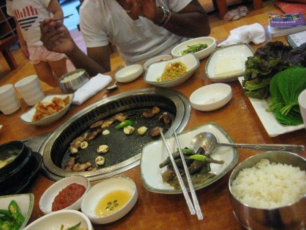 Korean-bbq-in-Ulsan_first-meal.jpg