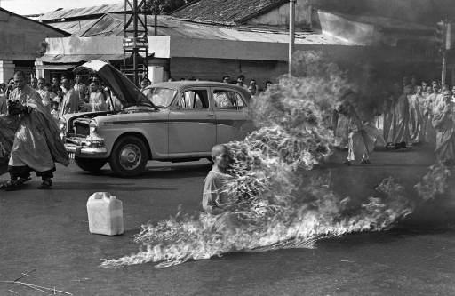 Thích Quảng Đức Self Immolation.