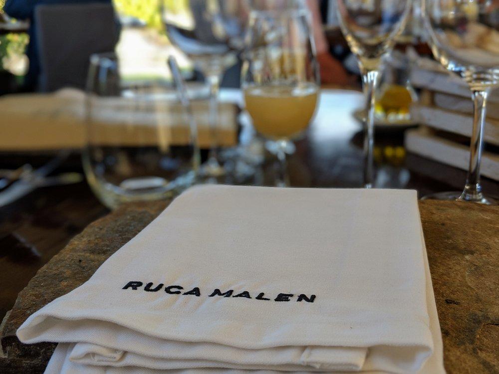 Ruca Malen Bodega Table Setting