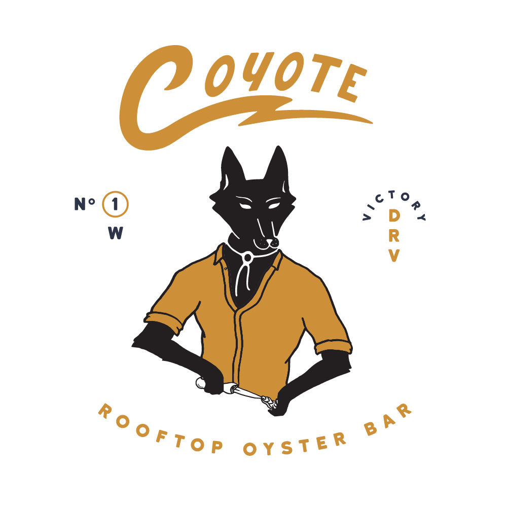 Coyote Rooftop Oyster Bar : Savannah, Georgia