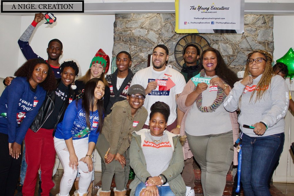 The 1st Annual Holiday Soirée in December 2017 with a few of the atteendes.