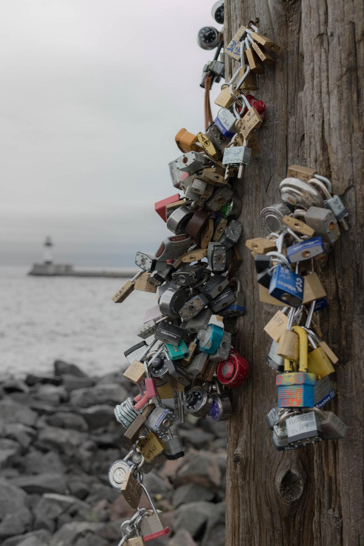 love locks - canal park, duluth