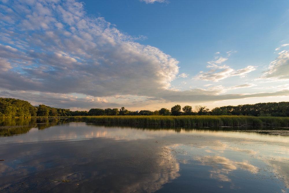 cloud reflections - woodlake nature center, richfield