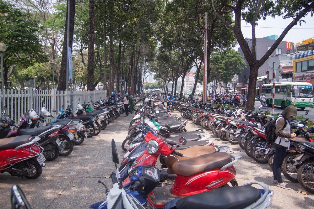 saigon parking - ho chi minh city, vietnam