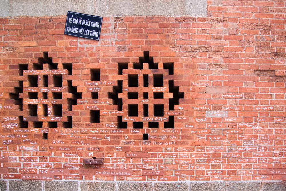 cathedral wall - ho chi minh city, vietnam