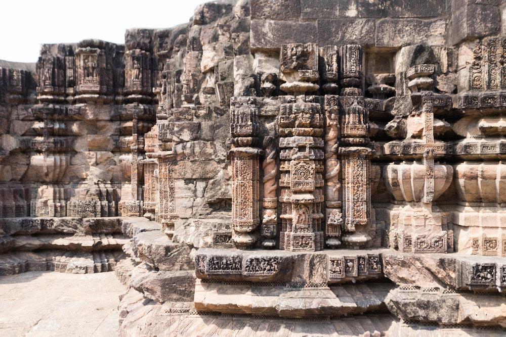 konark carvings - puri, india