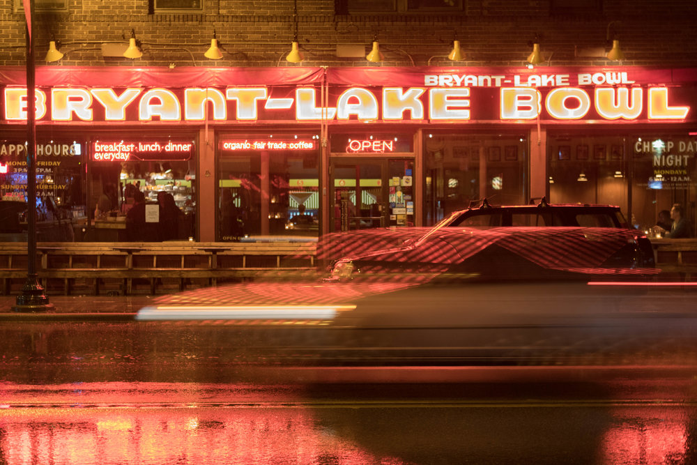 bryant lake bowl at night - minneapolis
