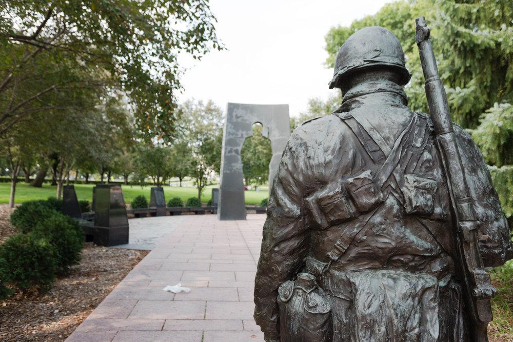august 26, 2018  korean war memorial - saint paul, minnesota