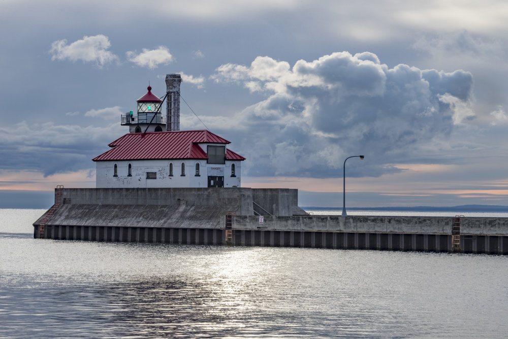 north pier morning -duluth