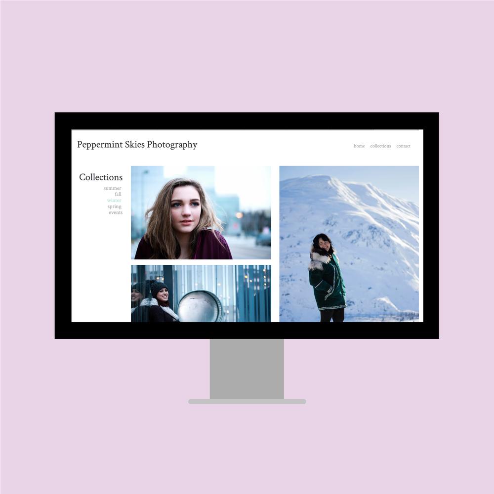 Peppermint Skies - Web Design