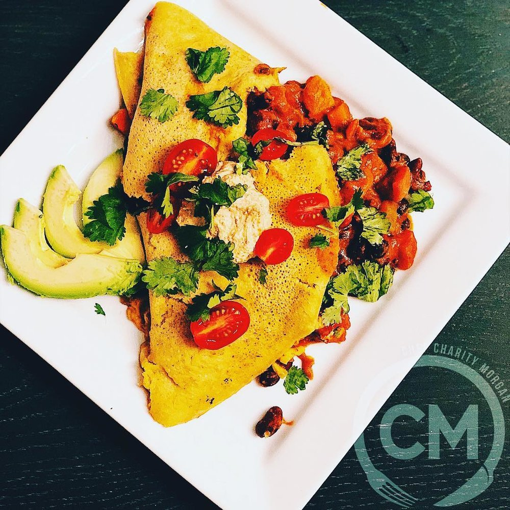 Chili Cheese Chickpea Omelet