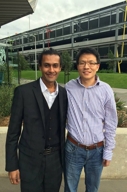 RS Mines Co-Founder and Director, Sheriozha Anthony Wijekoon with CEO of SupraG Energy, Professor Dan Li