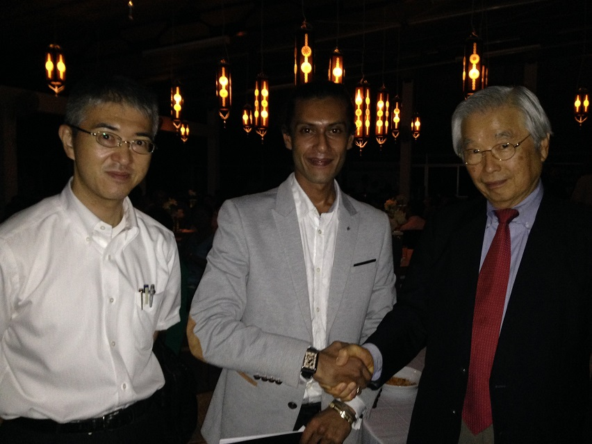 Professor. Sumio Iijima with RS Mines Co-Founder & Director, Sheriozha Anthony Wijekoon and Mission Vector Partners - Japan - CEO, Kotaro To