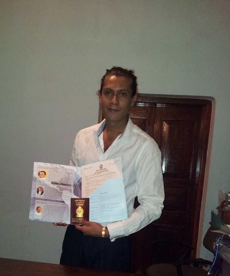 RS Mines Co-Founder and Director, Sheriozha Anthony Wijekoon obtaining Sri Lankan Dual Citizenship.