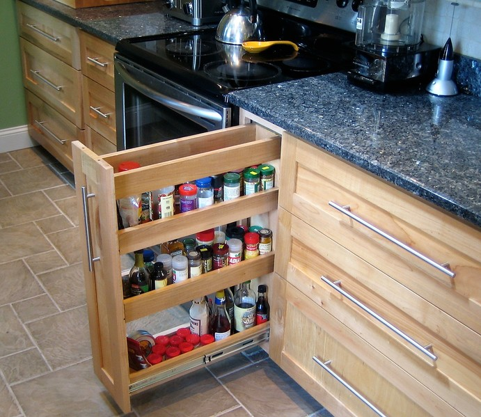 Kitchen Cabinets Made From Maple Plywood And Solid Maple.
