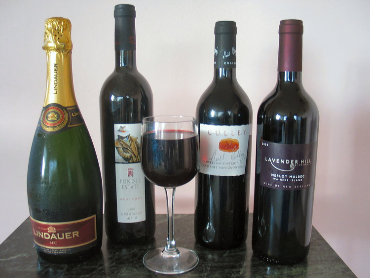 A selection of New Zealand wine